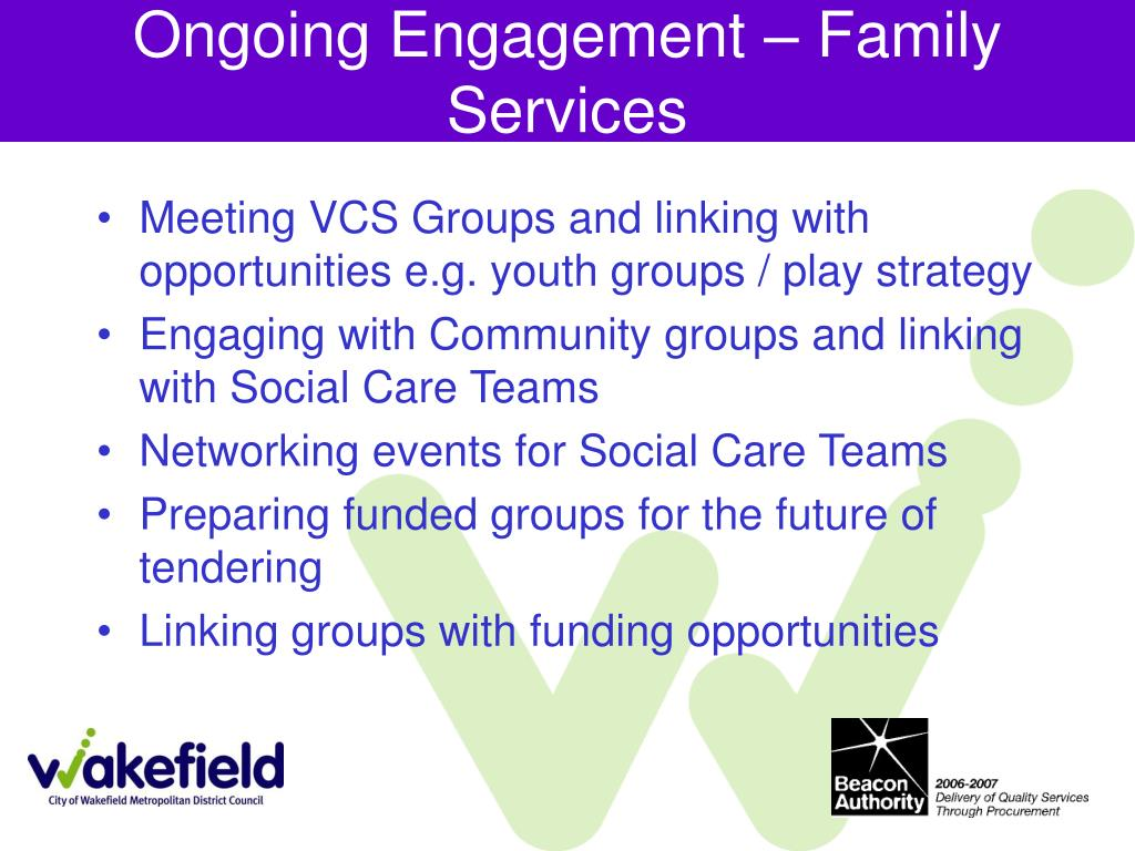 Ongoing Engagement – Family Services