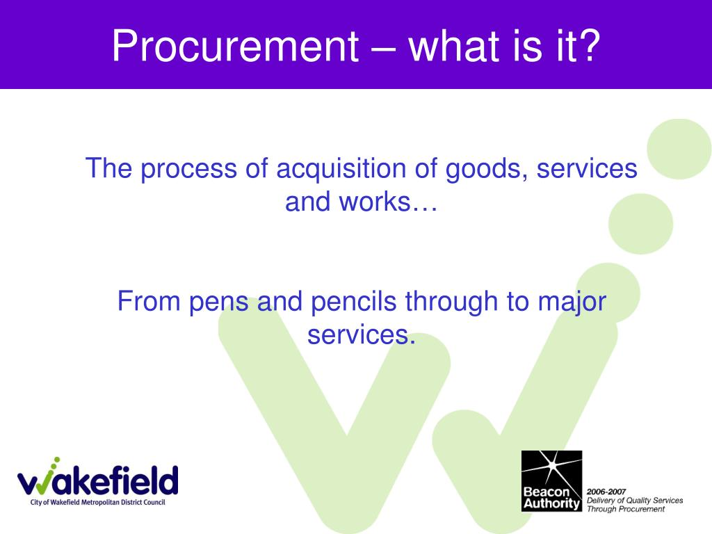 Procurement – what is it?