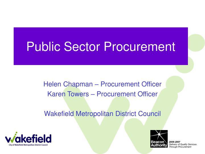 Public sector procurement l.jpg