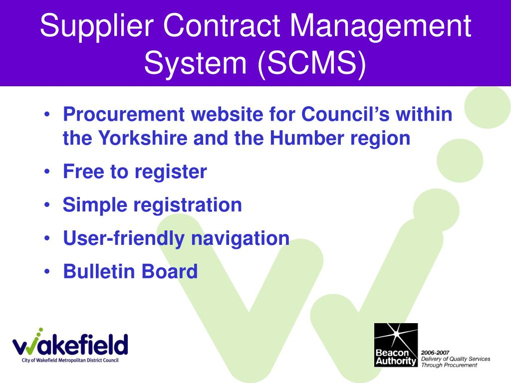 Supplier Contract Management System (SCMS)