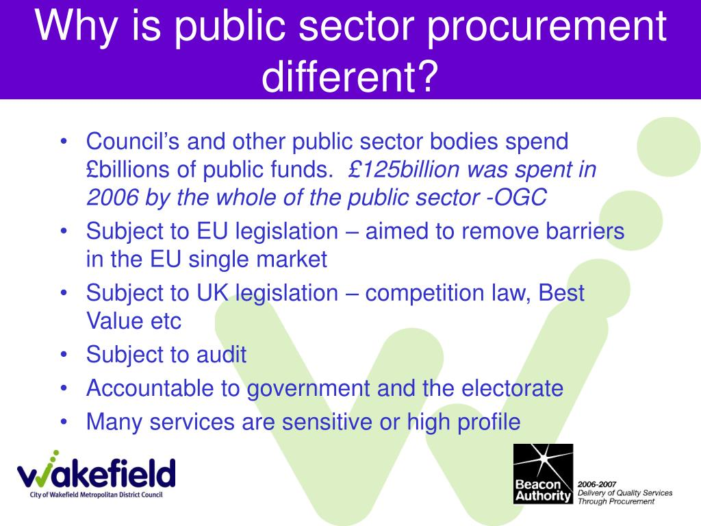 Why is public sector procurement different?