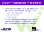 socially responsible procurement