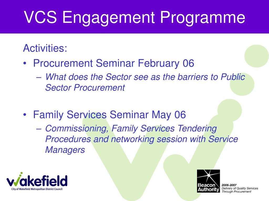 VCS Engagement Programme
