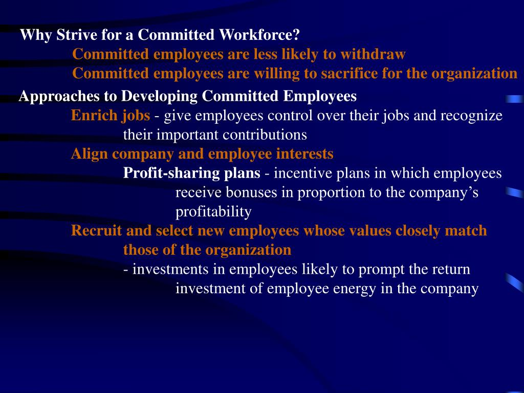 Why Strive for a Committed Workforce?