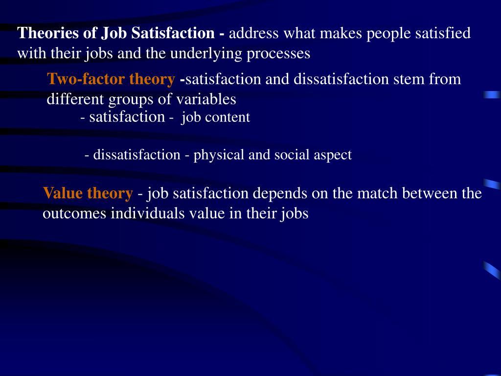 Theories of Job Satisfaction -