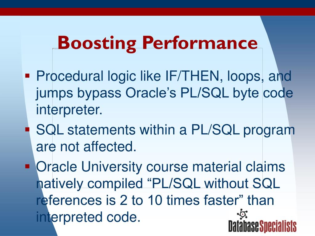 Boosting Performance