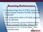 boosting performance