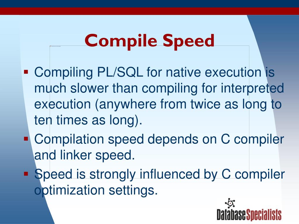 Compile Speed
