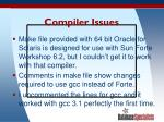compiler issues