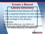 create a shared library directory