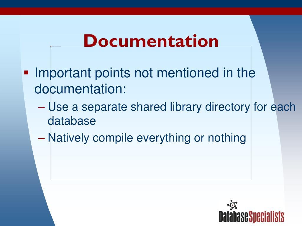 Documentation