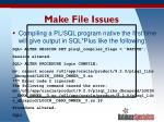make file issues
