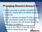 managing shared library files