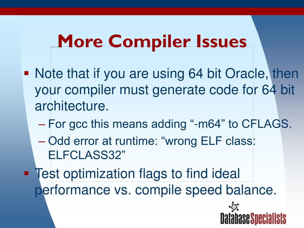 More Compiler Issues