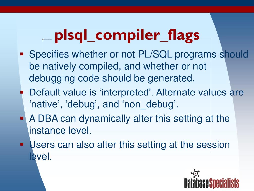 plsql_compiler_flags