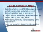 plsql compiler flags