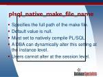 plsql native make file name