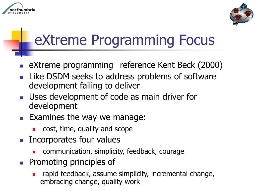 software developing method extreme programming Extreme programming (xp) is a software development methodology which is  intended to improve software quality and responsiveness to changing customer.