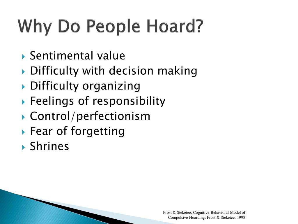 PPT - Compulsive Hoarding in the Elderly: What we know and ...