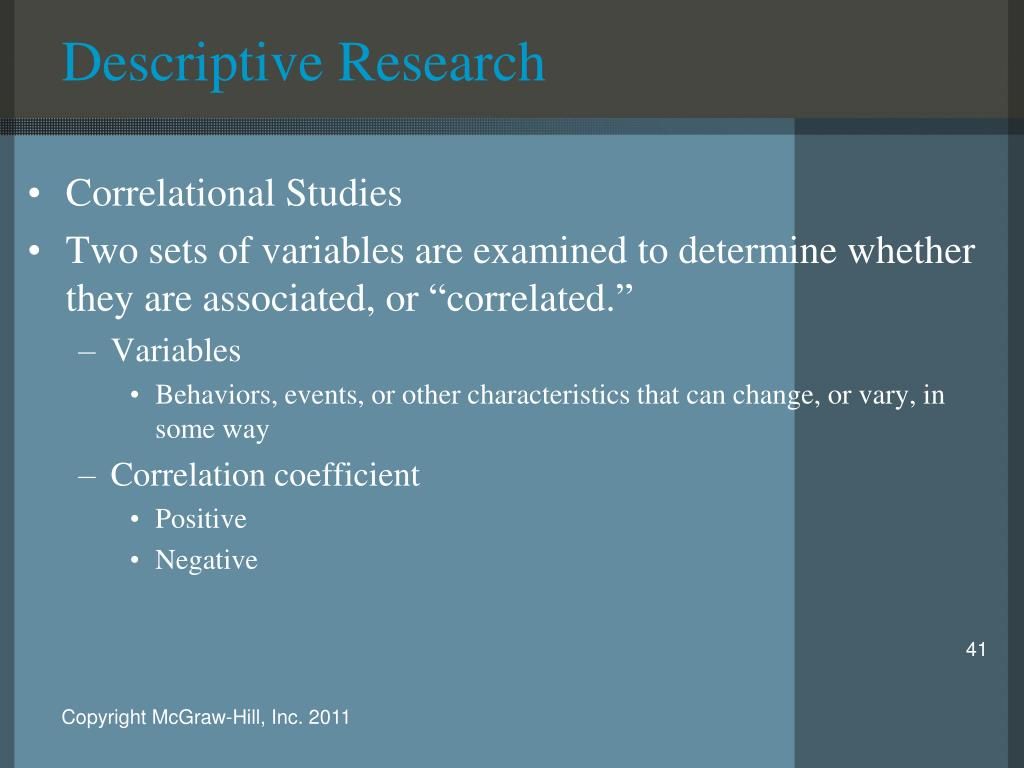 Explain descriptive research