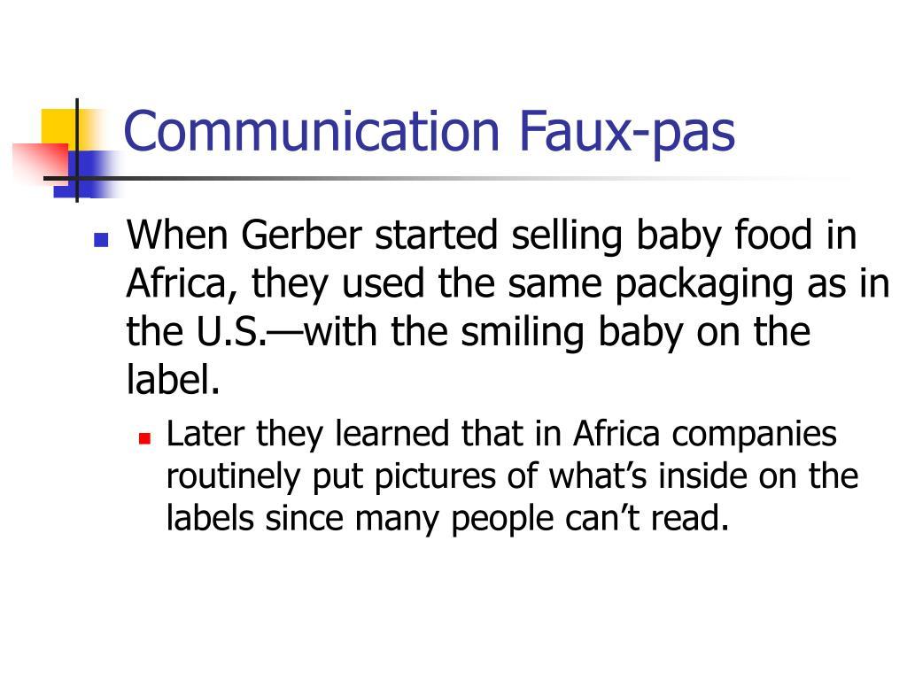 Communication Faux-pas