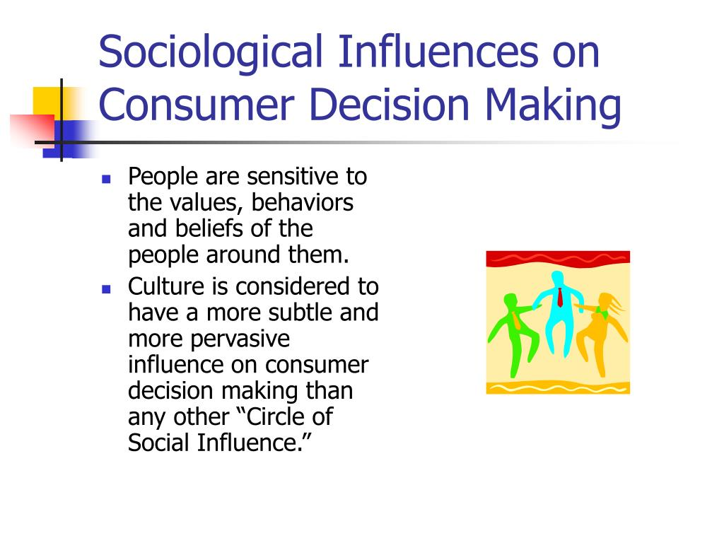 Sociological Influences on Consumer Decision Making