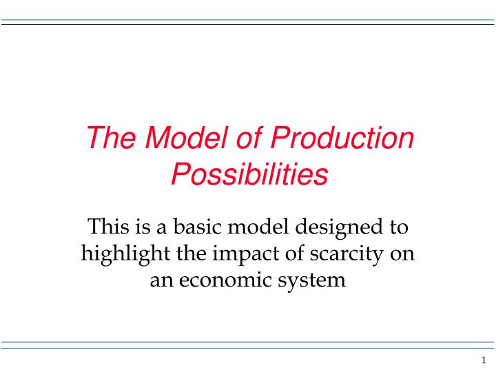 The model of production possibilities l.jpg