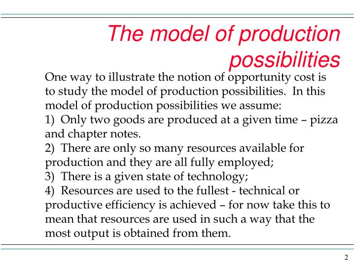 The model of production possibilities2 l.jpg