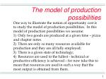 the model of production possibilities2