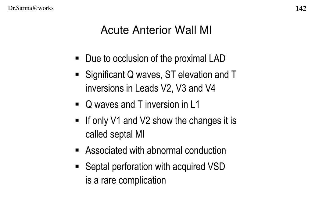 Acute Anterior Wall MI
