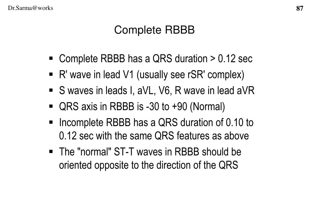 Complete RBBB