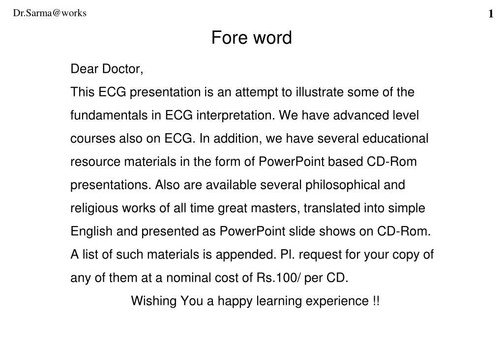 Dear Doctor,