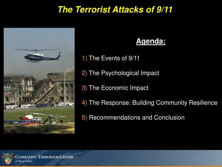 The Terrorist Attacks of 9/11
