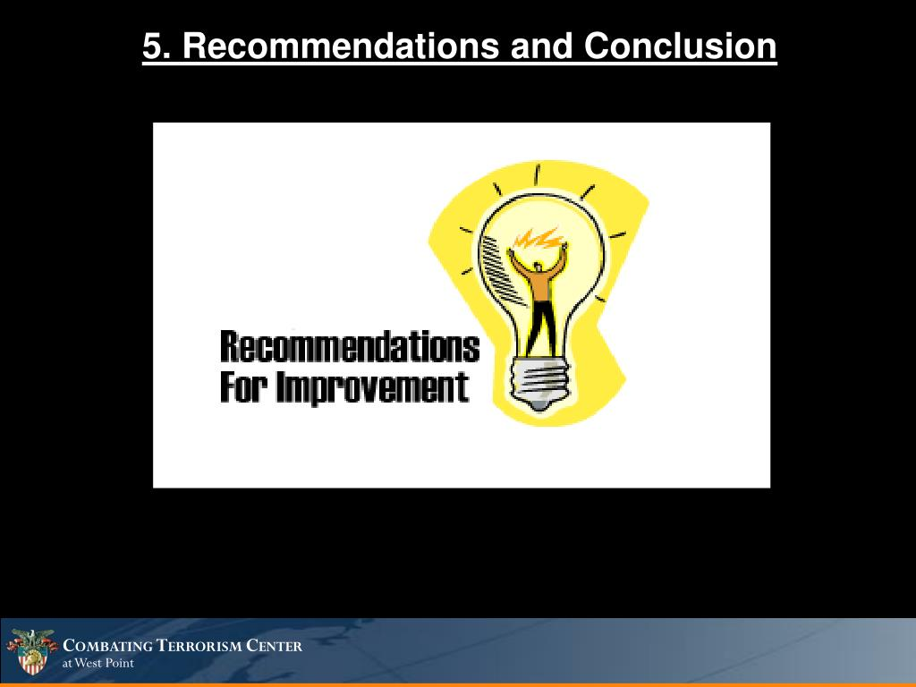 5. Recommendations and Conclusion