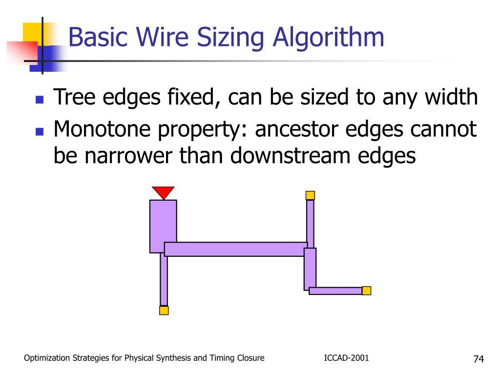 Basic Wire Sizing Algorithm