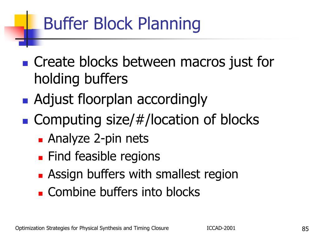 Buffer Block Planning