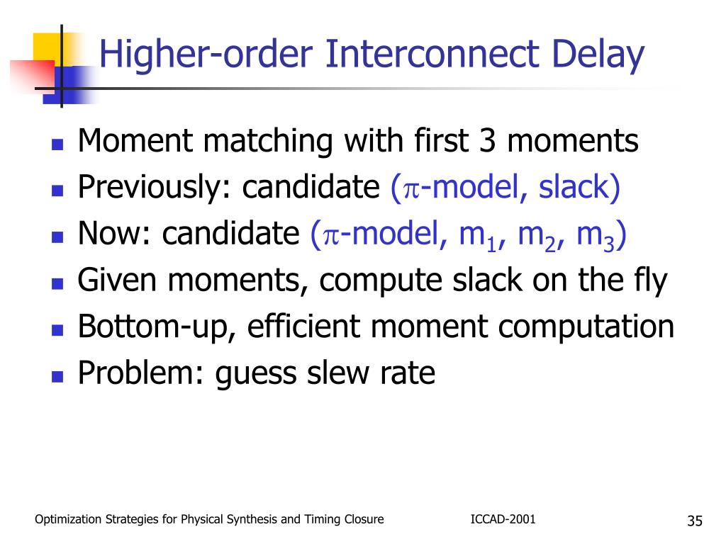 Higher-order Interconnect Delay