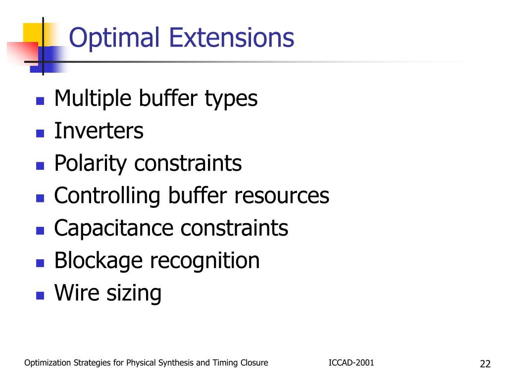 Optimal Extensions