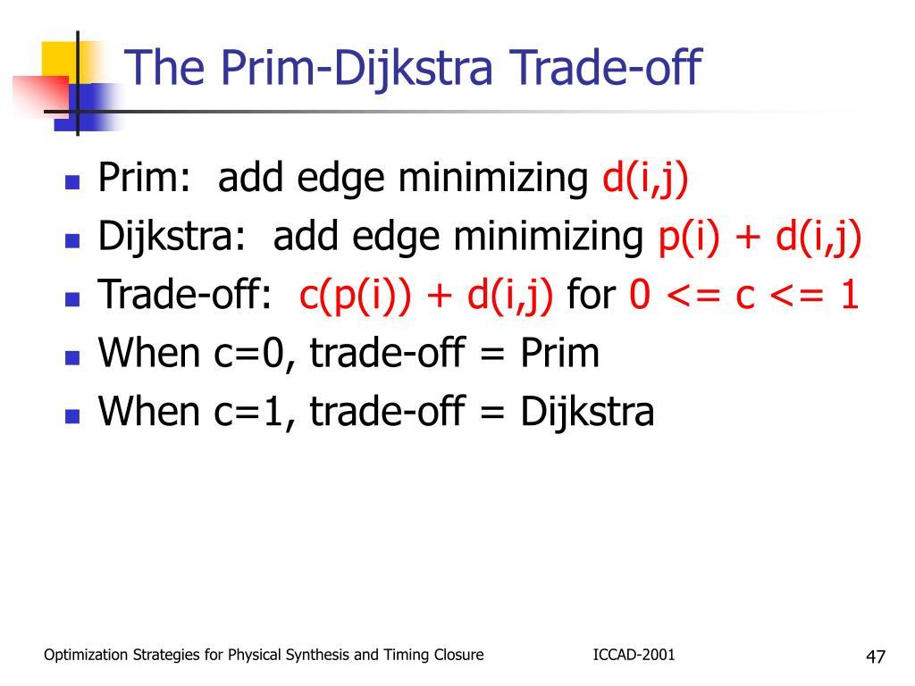The Prim-Dijkstra Trade-off