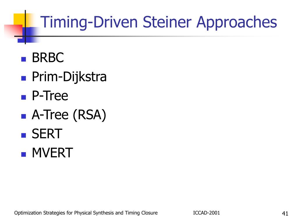 Timing-Driven Steiner Approaches