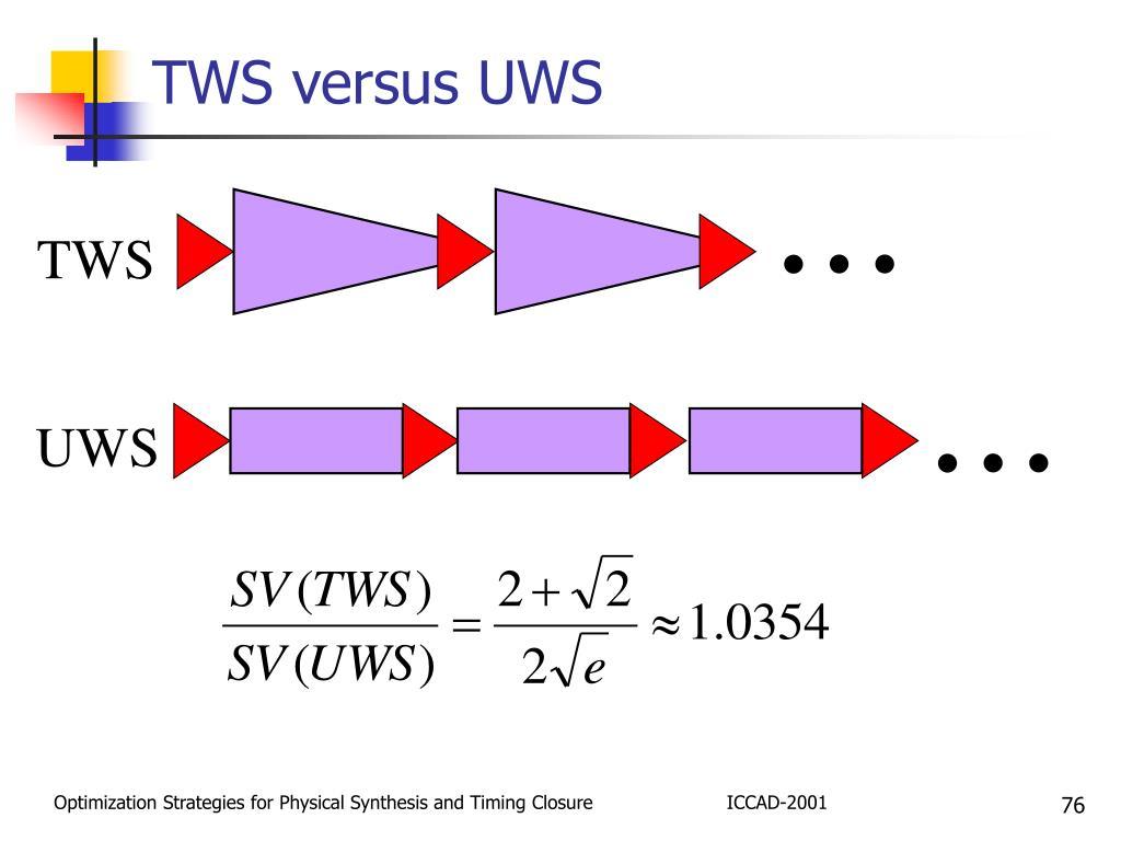 TWS versus UWS