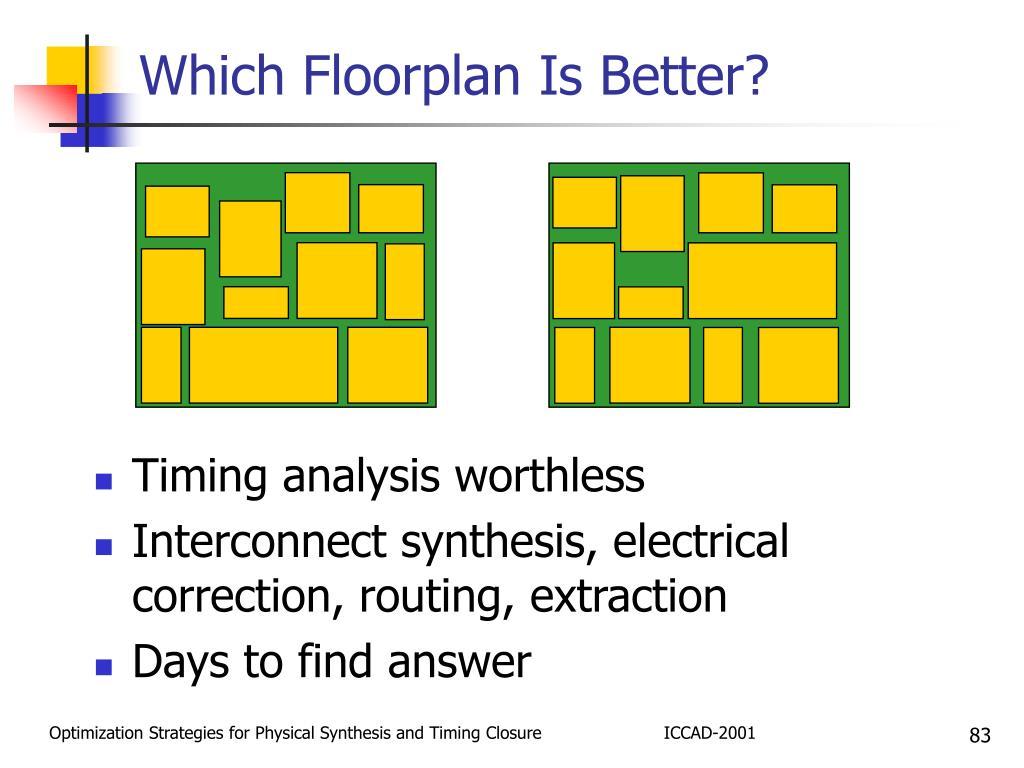 Which Floorplan Is Better?