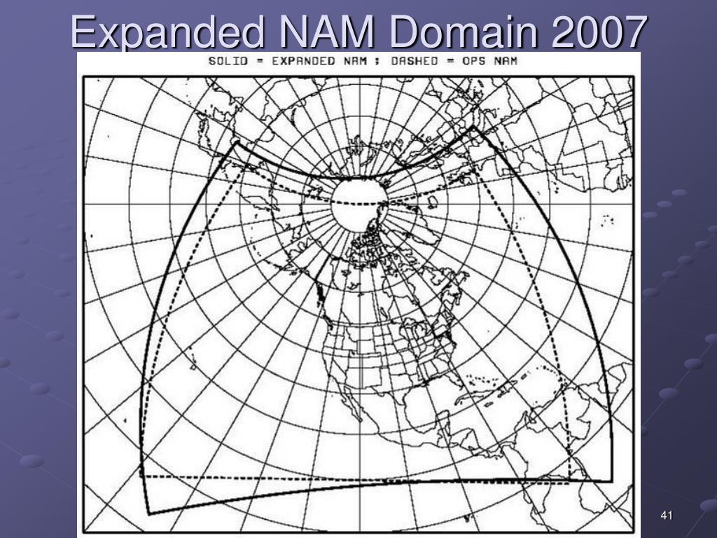 Expanded NAM Domain 2007