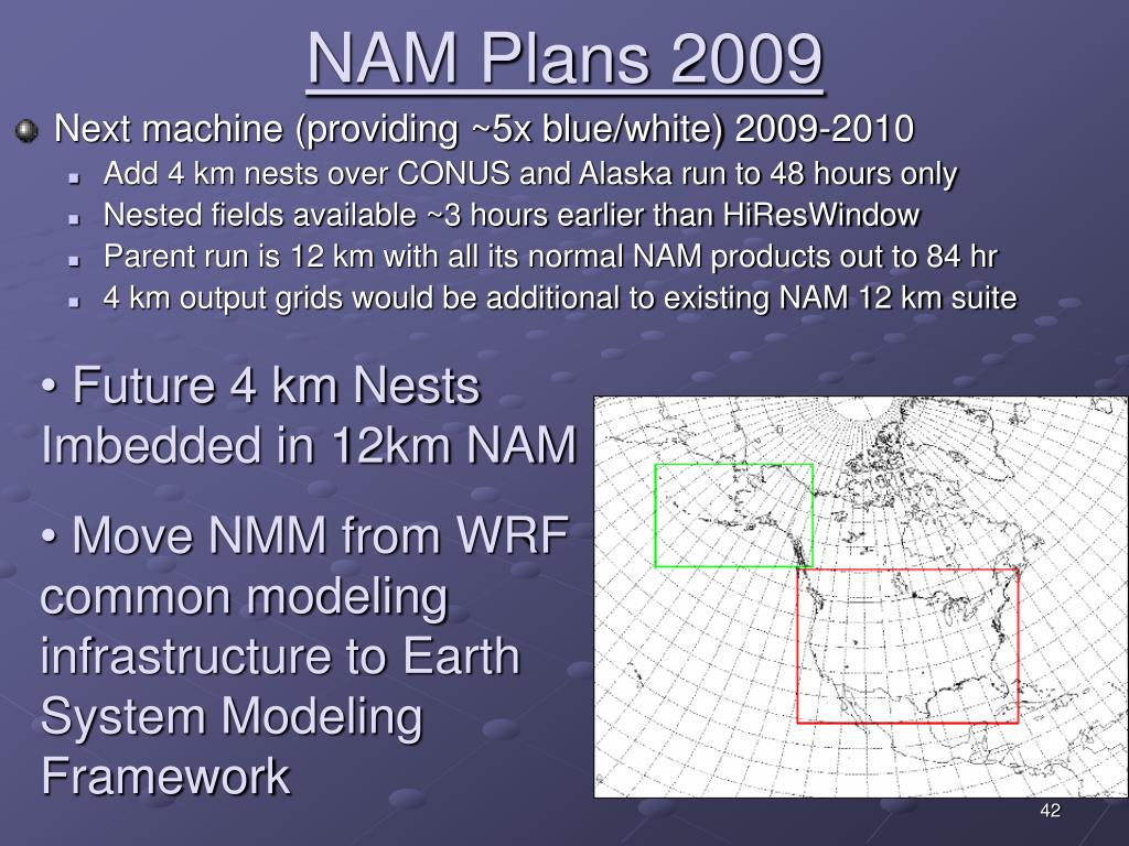 NAM Plans 2009