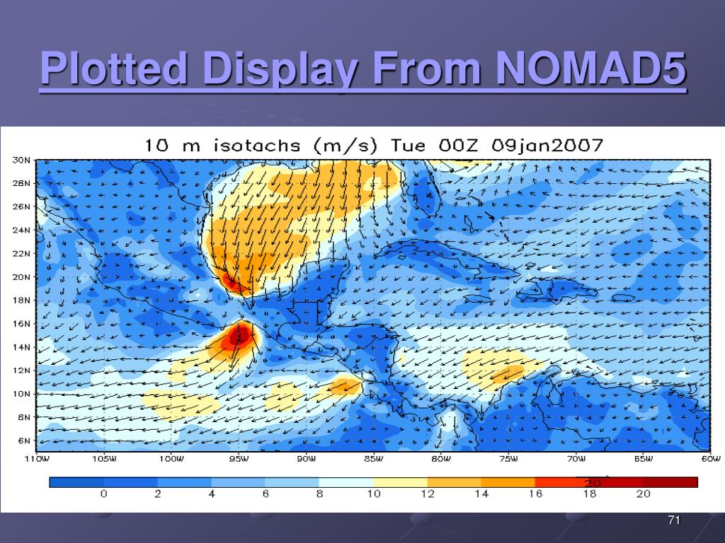 Plotted Display From NOMAD5