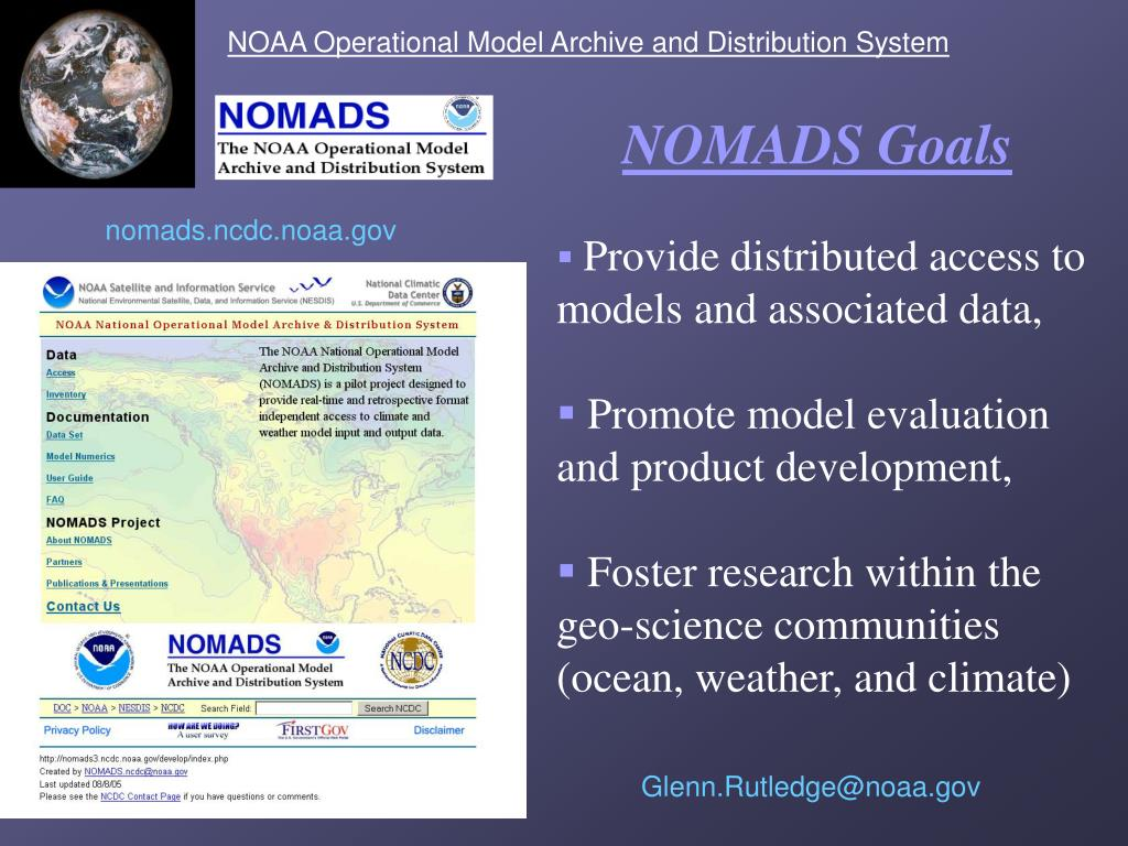 NOAA Operational Model Archive and Distribution System