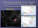 sref guidance contributes to spc first ever day 2 high risk outlook for april 7 2006