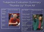 subjective evaluation summary thumbs up from all