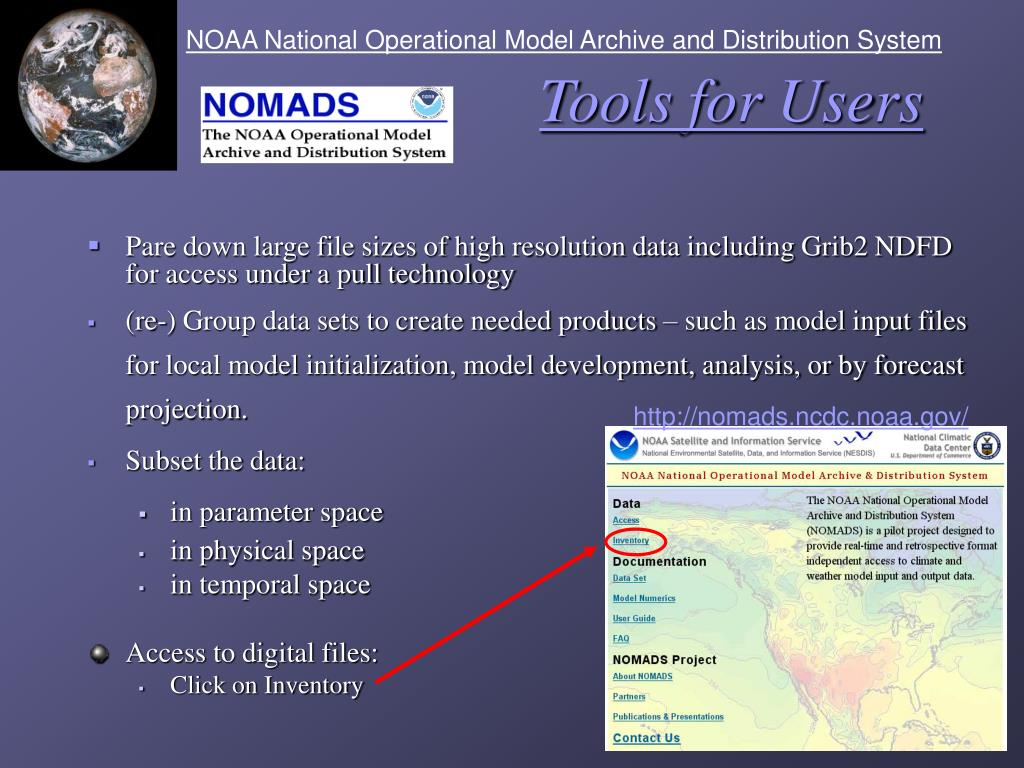 NOAA National Operational Model Archive and Distribution System