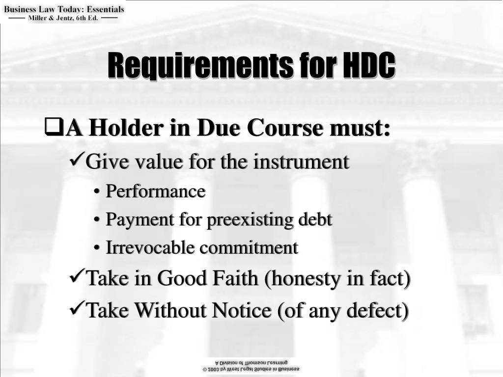 Requirements for HDC